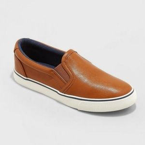New Cat & Jack Boy's Enzo Tan Slip On Sneakers 6